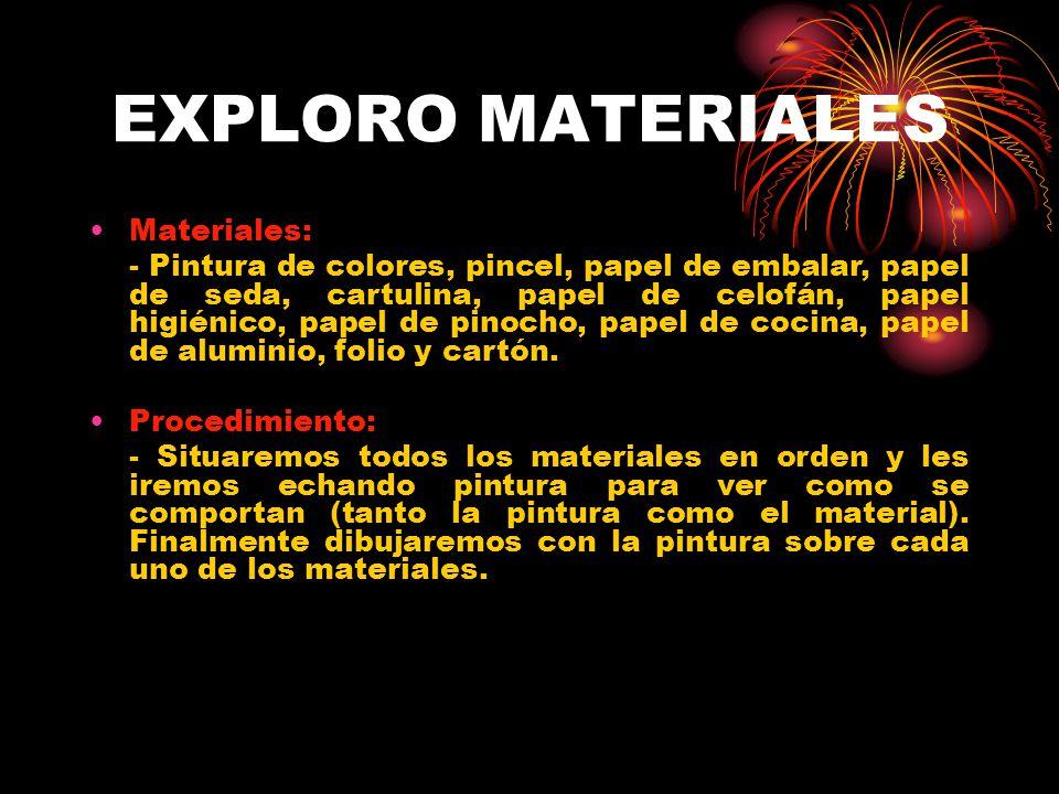 EXPLORO MATERIALES Materiales: