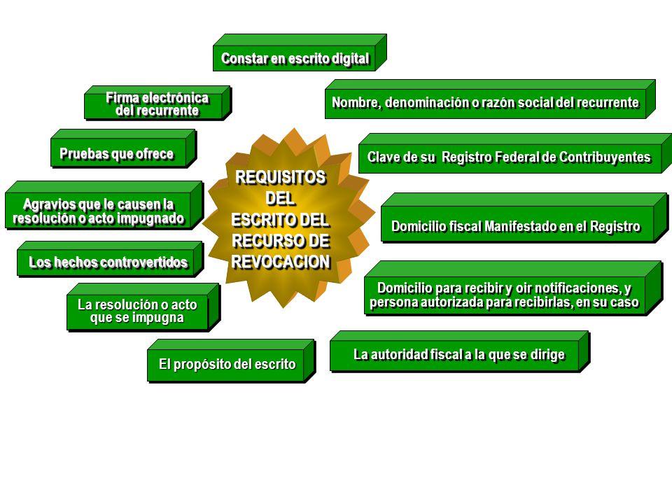 REQUISITOS DEL ESCRITO DEL RECURSO DE REVOCACION