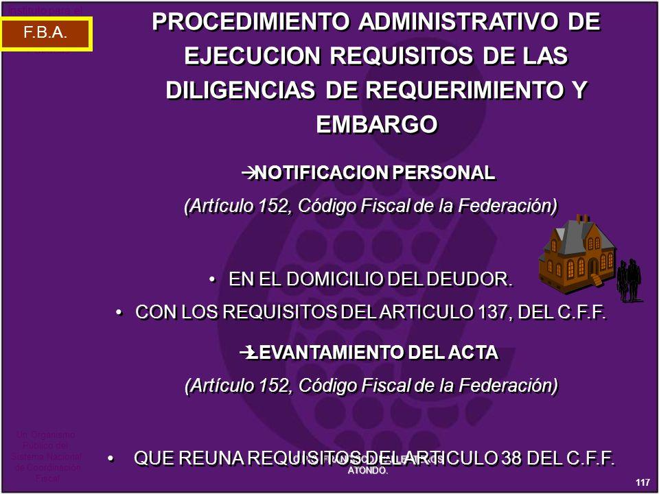NOTIFICACION PERSONAL LEVANTAMIENTO DEL ACTA