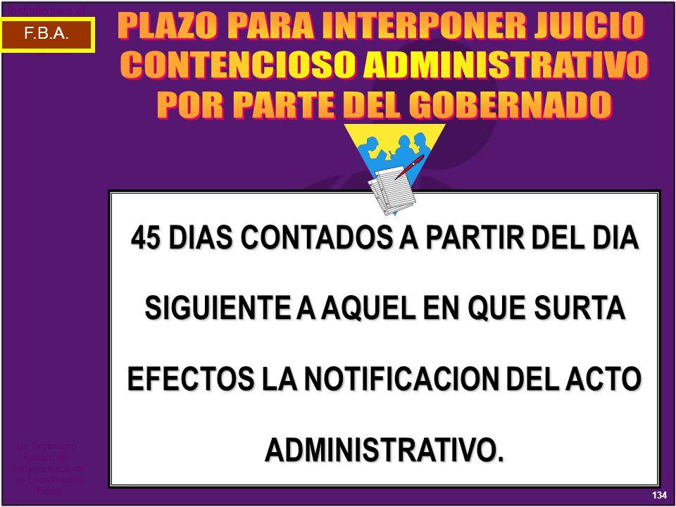 PLAZO PARA INTERPONER JUICIO CONTENCIOSO ADMINISTRATIVO