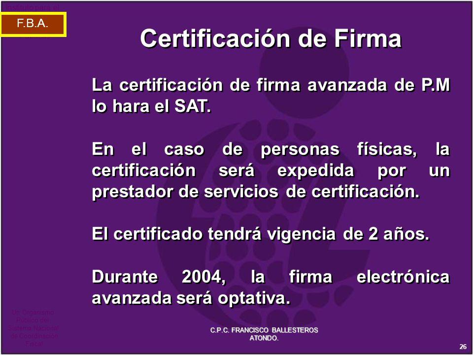 Certificación de Firma