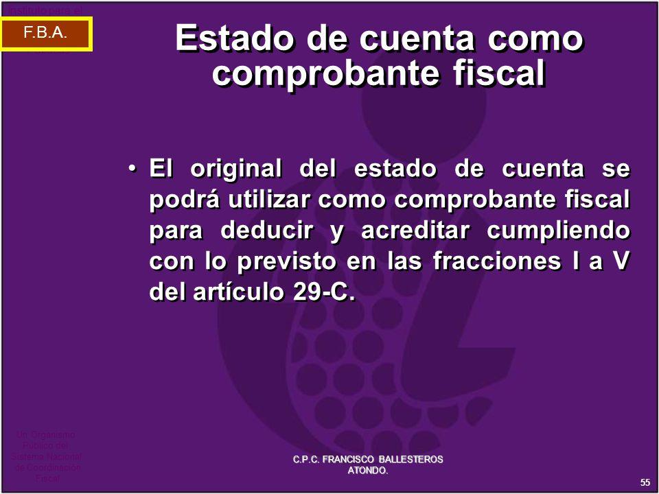 Estado de cuenta como comprobante fiscal