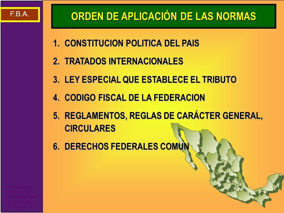 ORDEN DE APLICACIÓN DE LAS NORMAS