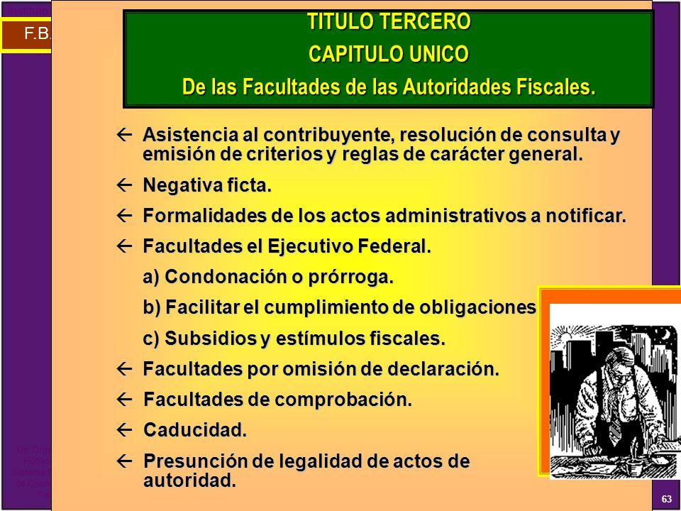 De las Facultades de las Autoridades Fiscales.