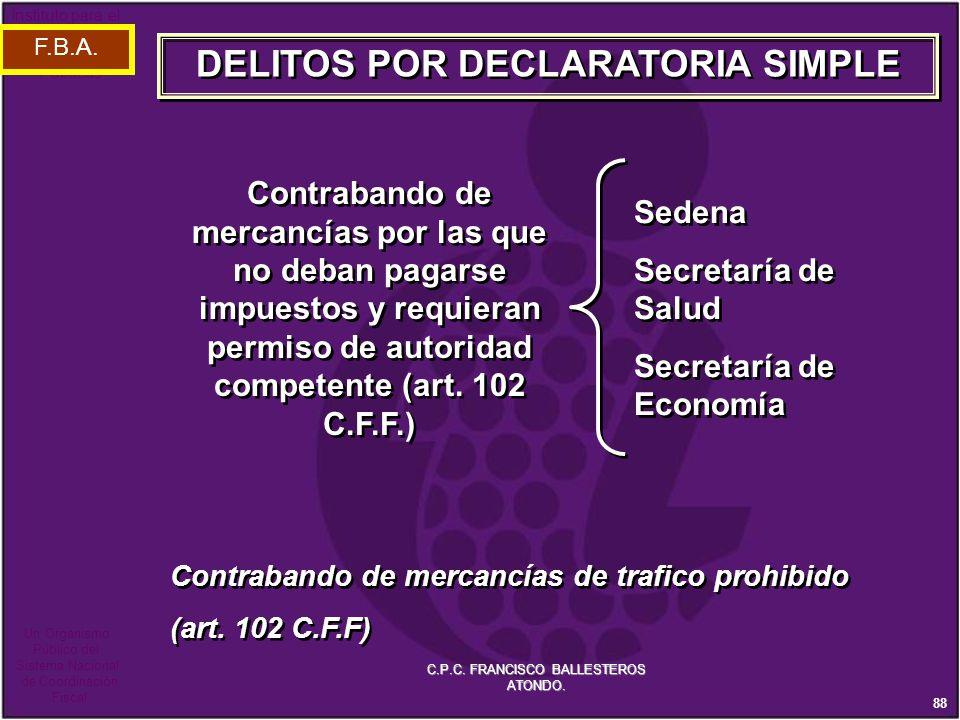 DELITOS POR DECLARATORIA SIMPLE