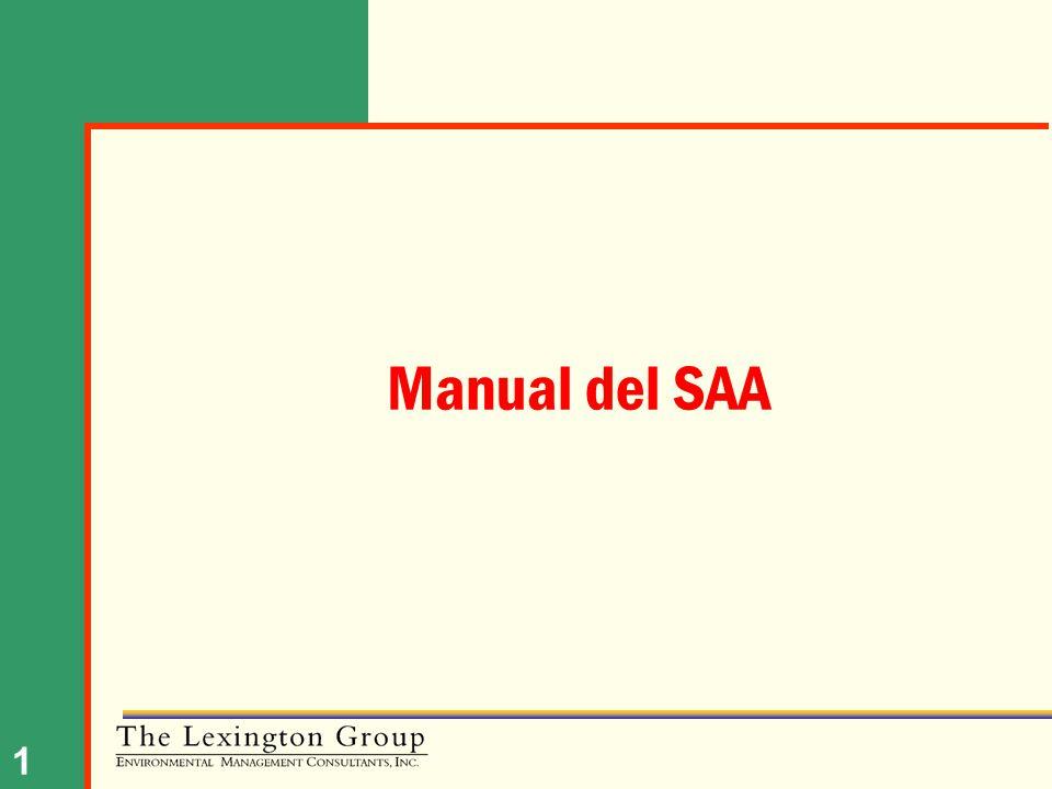 Manual del SAA NOTAS