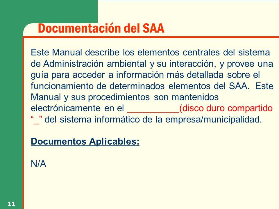 Documentación del SAA