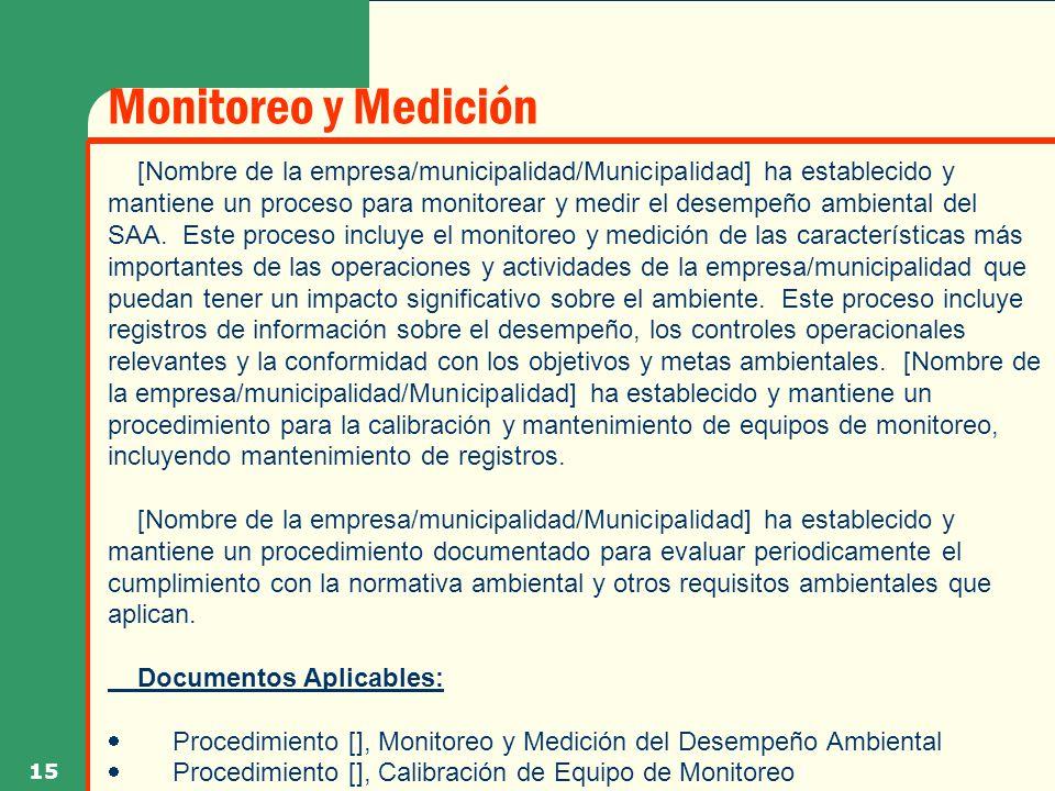 Monitoreo y Medición