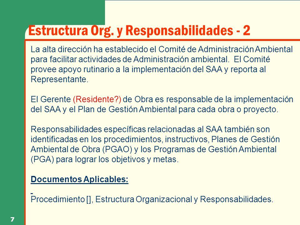 Estructura Org. y Responsabilidades - 2