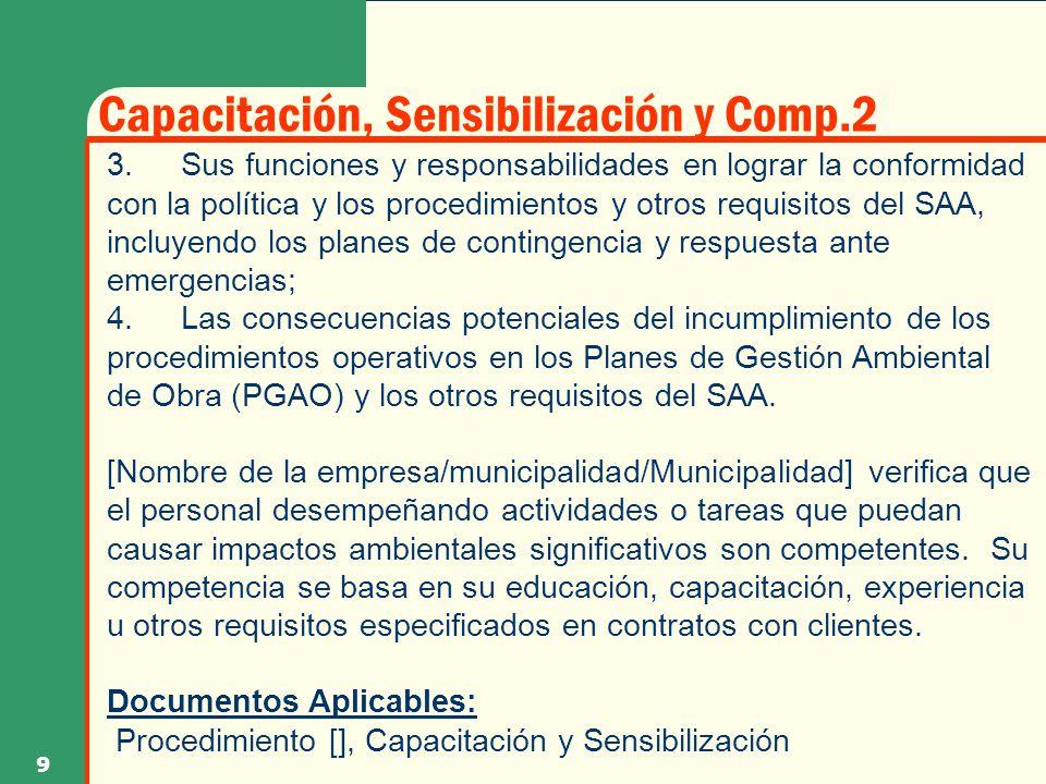 Capacitación, Sensibilización y Comp.2