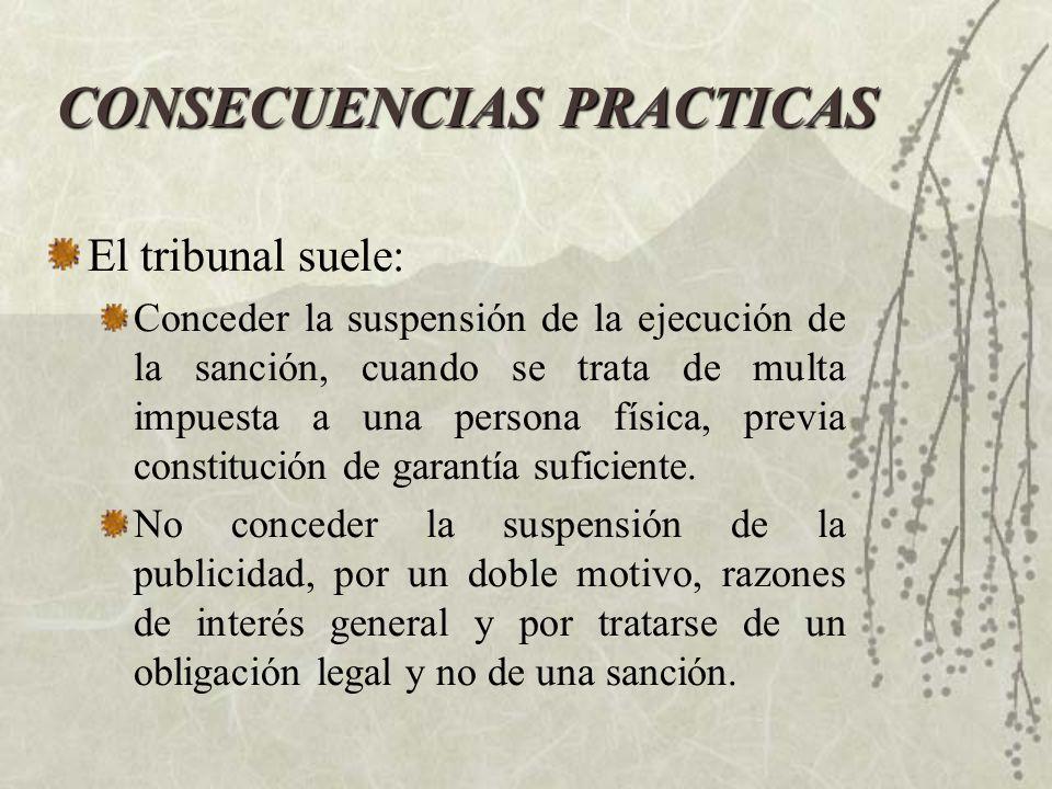 CONSECUENCIAS PRACTICAS