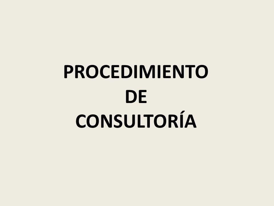 PROCEDIMIENTO DE CONSULTORÍA