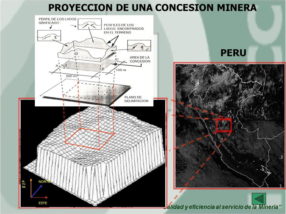 PROYECCION DE UNA CONCESION MINERA PERU