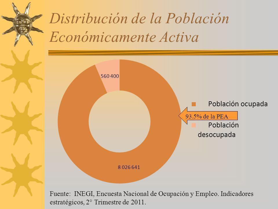 Distribución de la Población Económicamente Activa