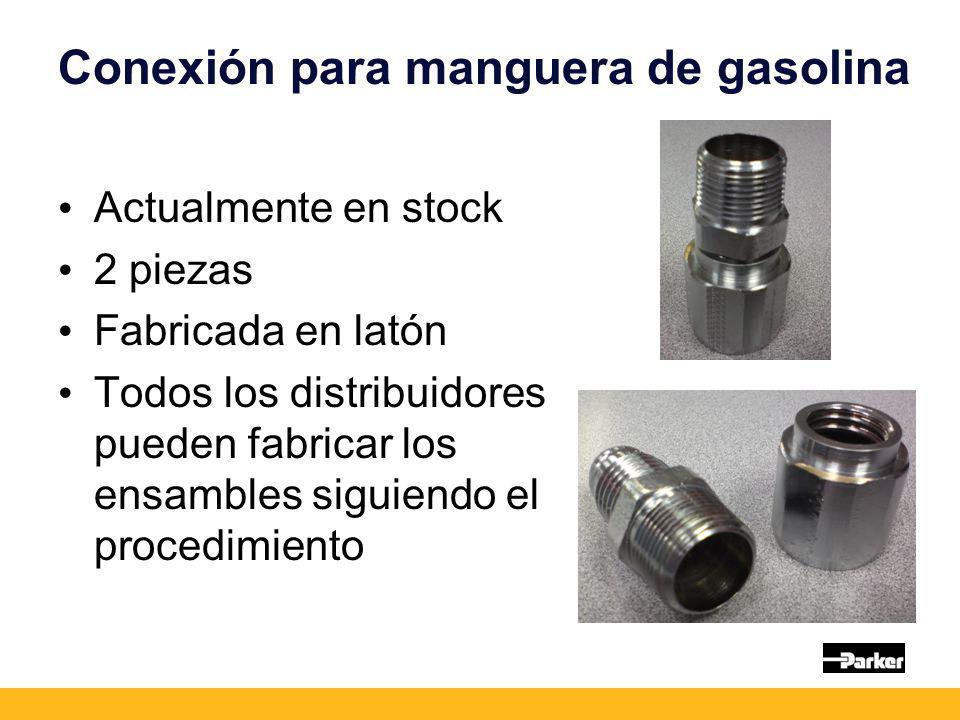 Conexión para manguera de gasolina