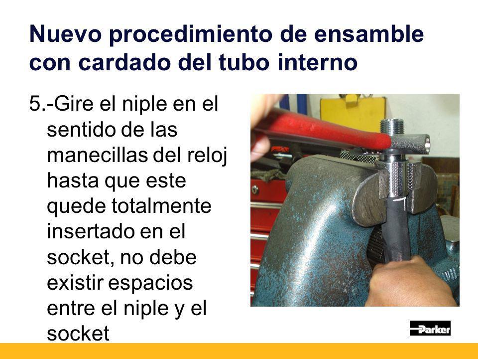 Nuevo procedimiento de ensamble con cardado del tubo interno