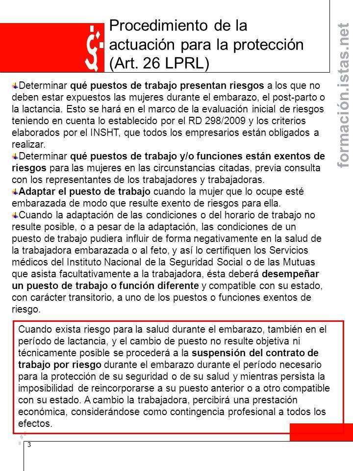 Procedimiento de la actuación para la protección (Art. 26 LPRL)