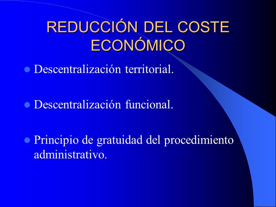 REDUCCIÓN DEL COSTE ECONÓMICO