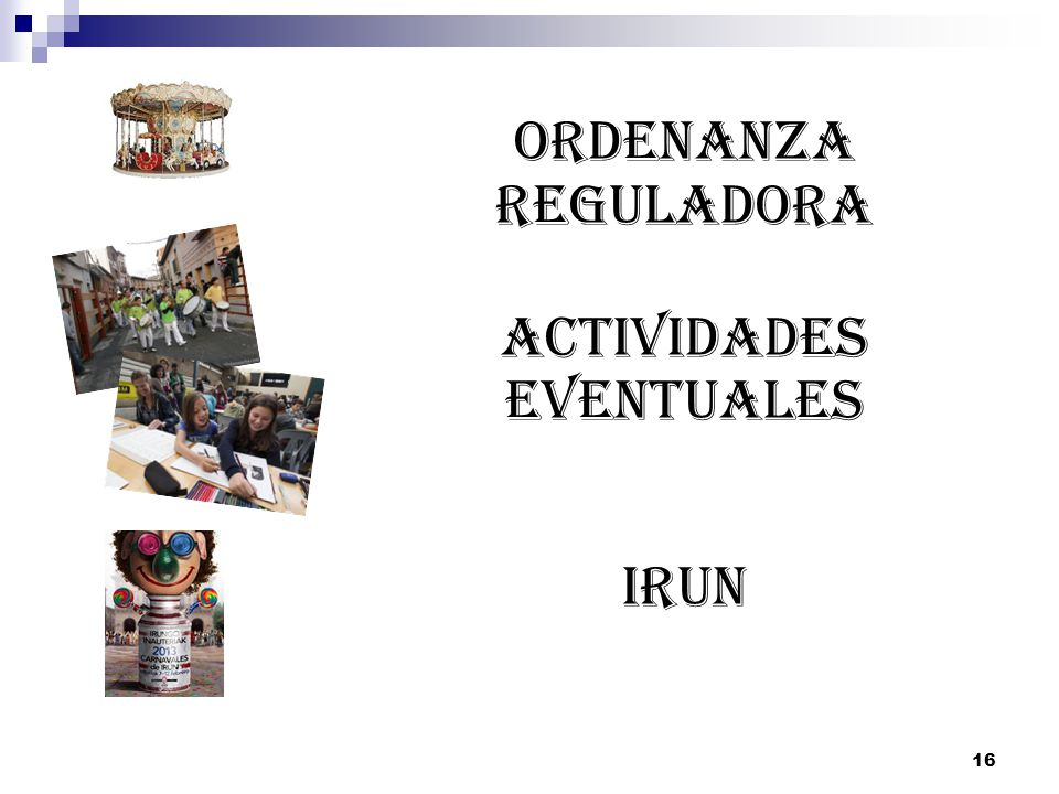 ACTIVIDADES EVENTUALES