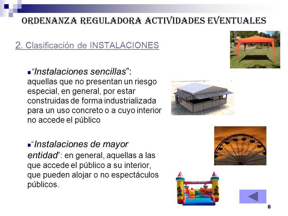 ORDENANZA REGULADORA ACTIVIDADES EVENTUALES