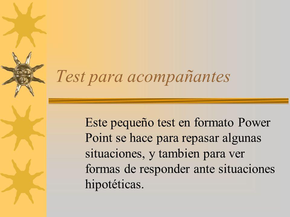 Test para acompañantes