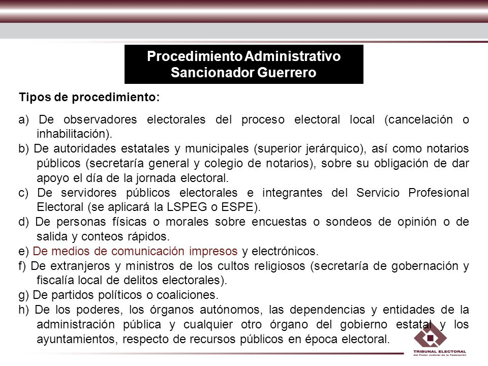 Procedimiento Administrativo Sancionador Guerrero