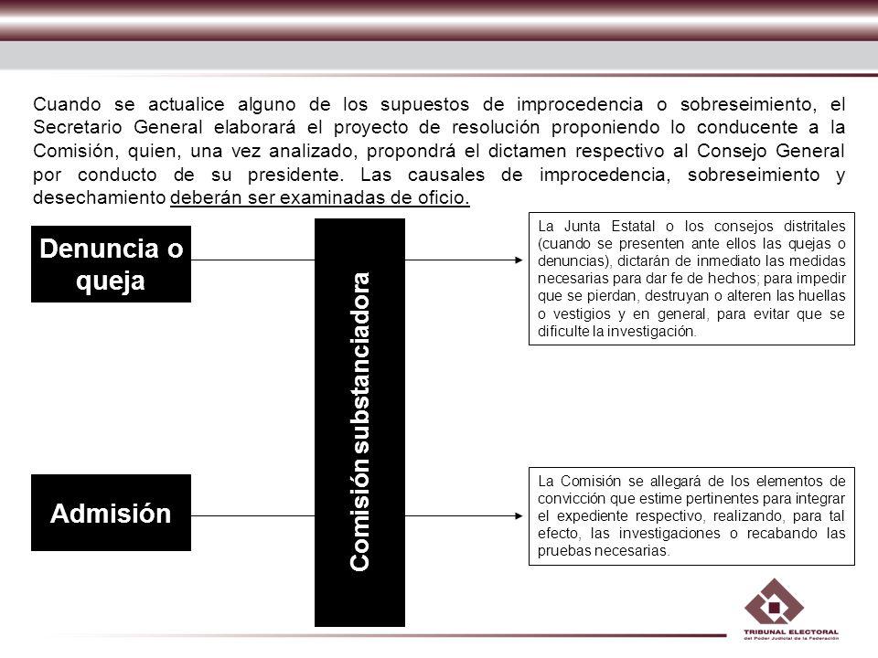 Comisión substanciadora