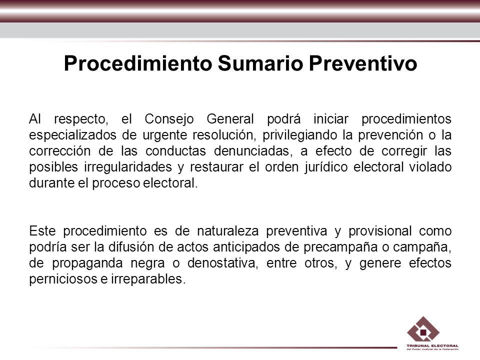 Procedimiento Sumario Preventivo