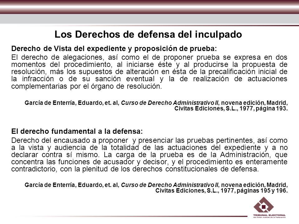 Los Derechos de defensa del inculpado