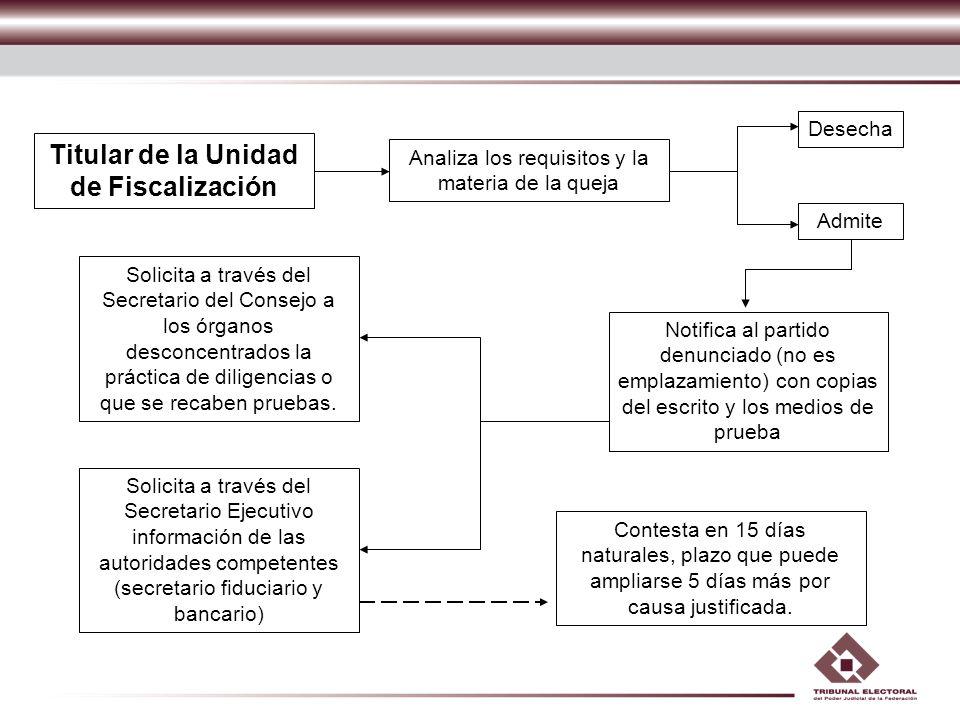 Titular de la Unidad de Fiscalización