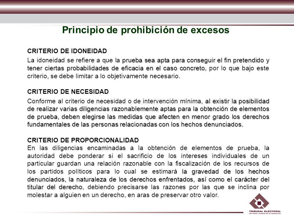 Principio de prohibición de excesos