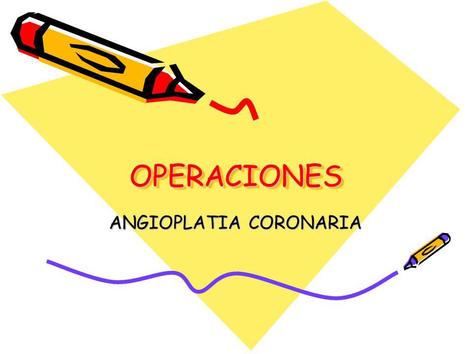 ANGIOPLATIA CORONARIA