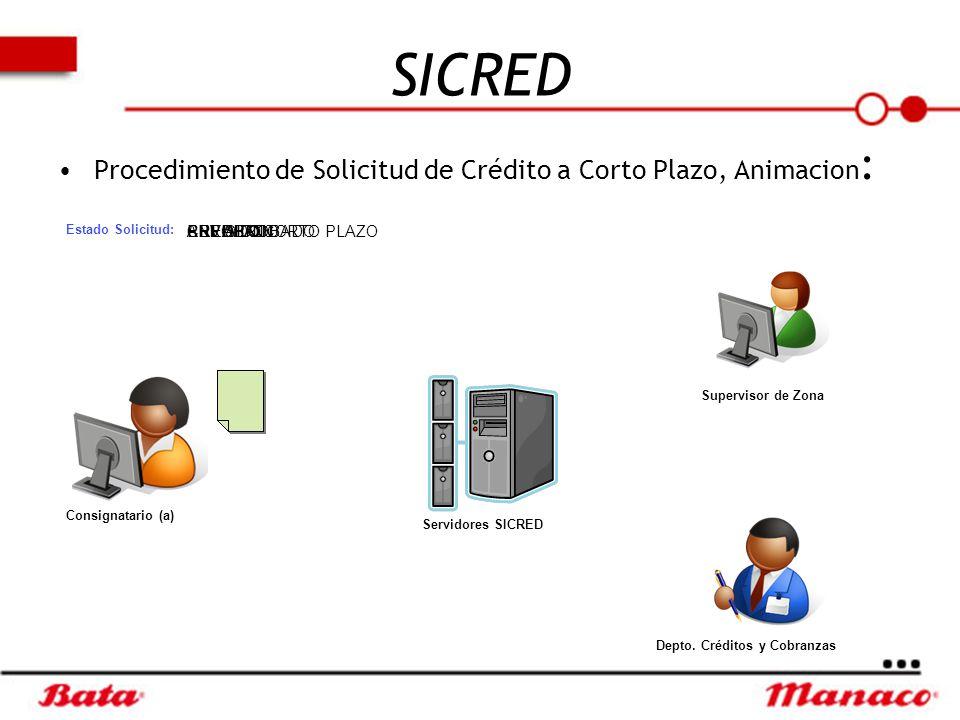SICRED Procedimiento de Solicitud de Crédito a Corto Plazo, Animacion: