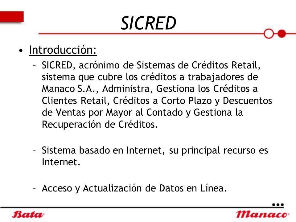 SICRED Introducción: