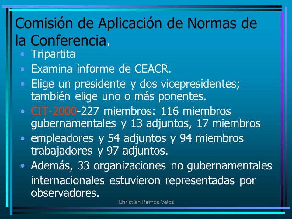 Comisión de Aplicación de Normas de la Conferencia.