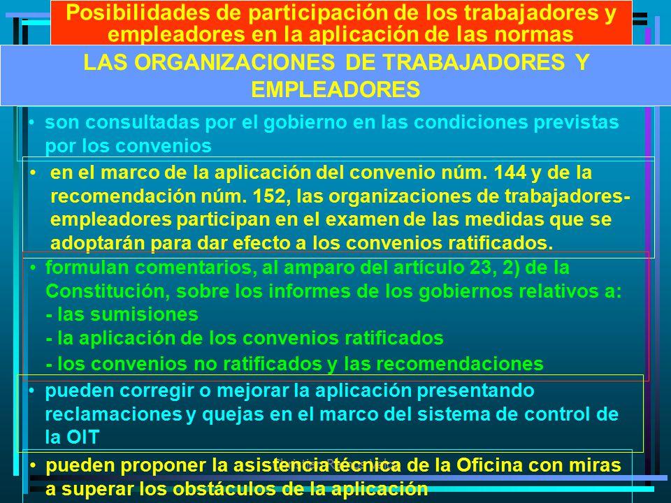 LAS ORGANIZACIONES DE TRABAJADORES Y EMPLEADORES