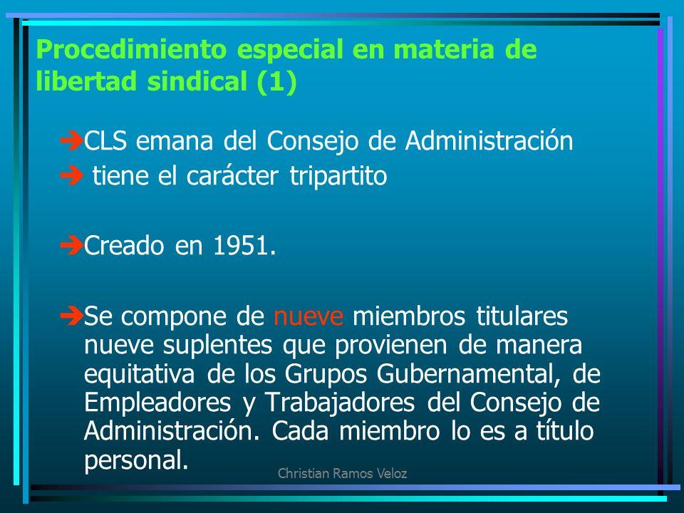 Procedimiento especial en materia de libertad sindical (1)