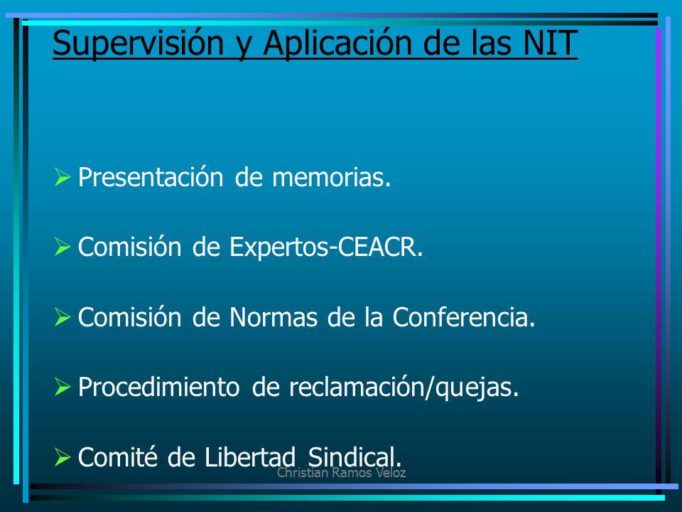 Supervisión y Aplicación de las NIT