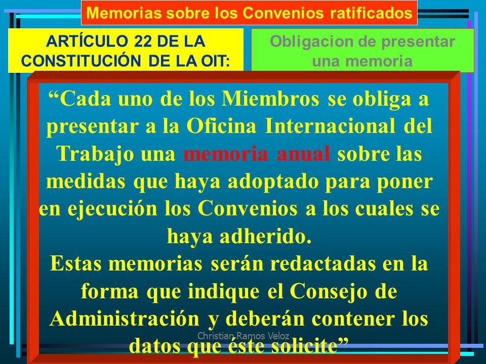 Memorias sobre los Convenios ratificados