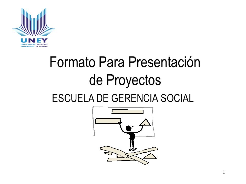 Formato Para Presentación de Proyectos