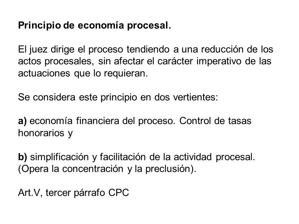 Principio de economía procesal