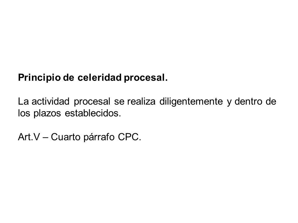 Principio de celeridad procesal