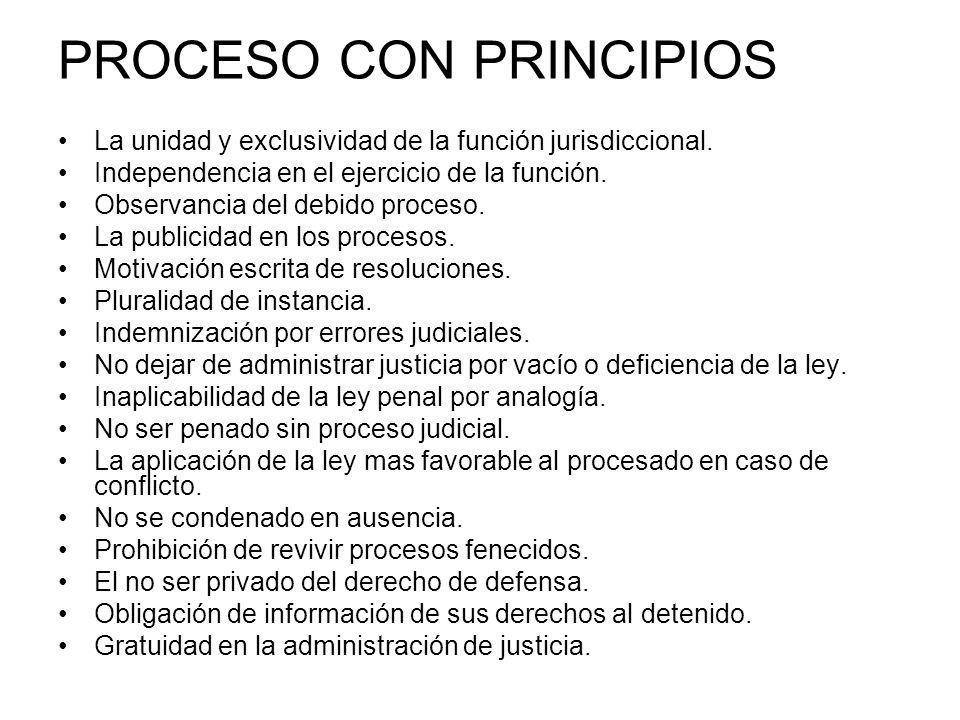 PROCESO CON PRINCIPIOS