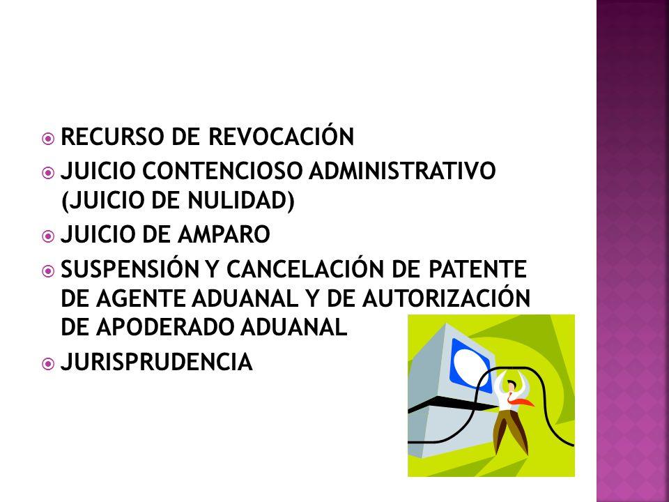 RECURSO DE REVOCACIÓN JUICIO CONTENCIOSO ADMINISTRATIVO (JUICIO DE NULIDAD) JUICIO DE AMPARO.