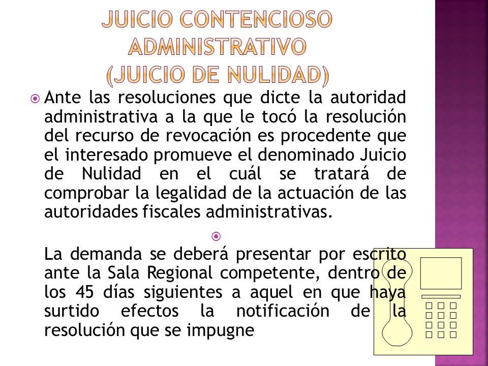 JUICIO CONTENCIOSO ADMINISTRATIVO (JUICIO DE NULIDAD)