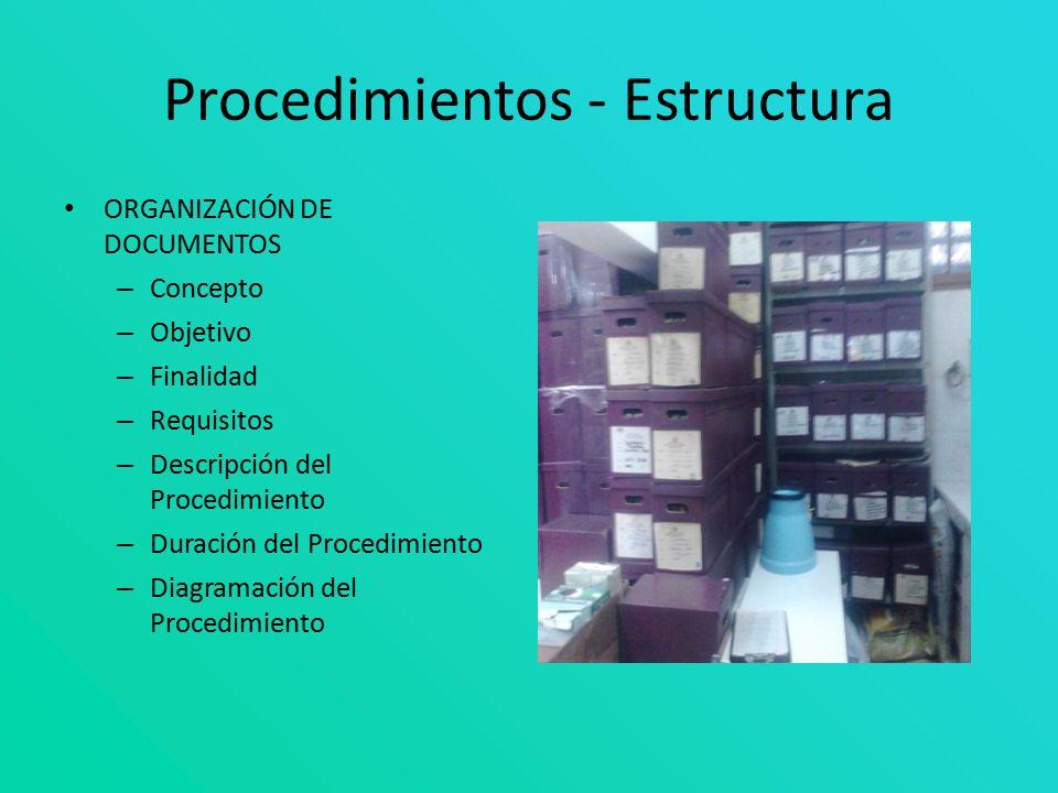 Procedimientos - Estructura
