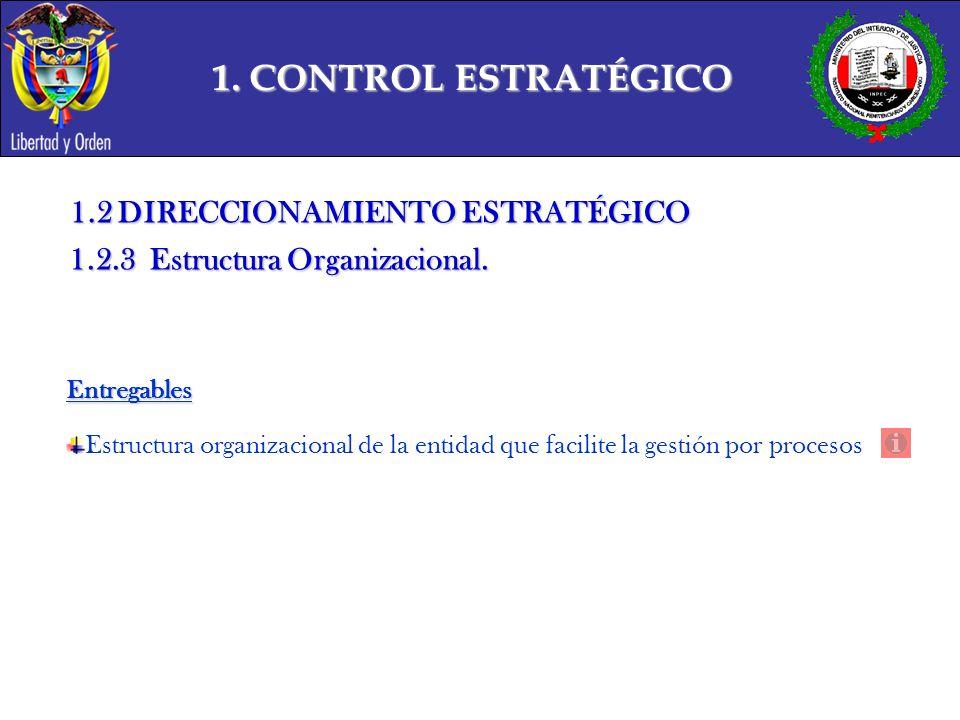 1. CONTROL ESTRATÉGICO 1.2 DIRECCIONAMIENTO ESTRATÉGICO
