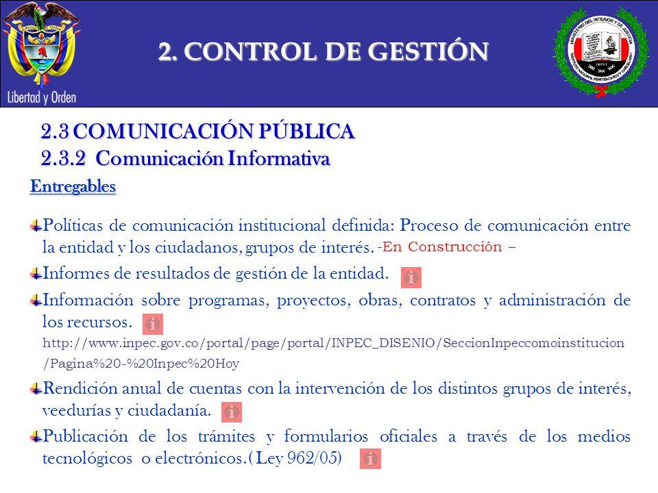 2. CONTROL DE GESTIÓN 2.3 COMUNICACIÓN PÚBLICA