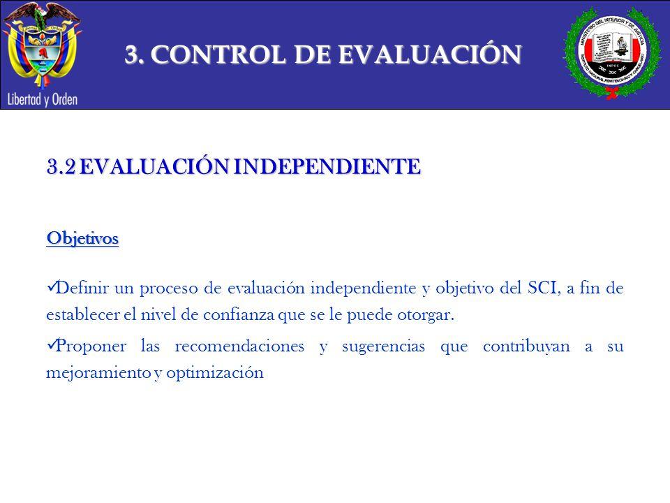 3. CONTROL DE EVALUACIÓN 3.2 EVALUACIÓN INDEPENDIENTE Objetivos