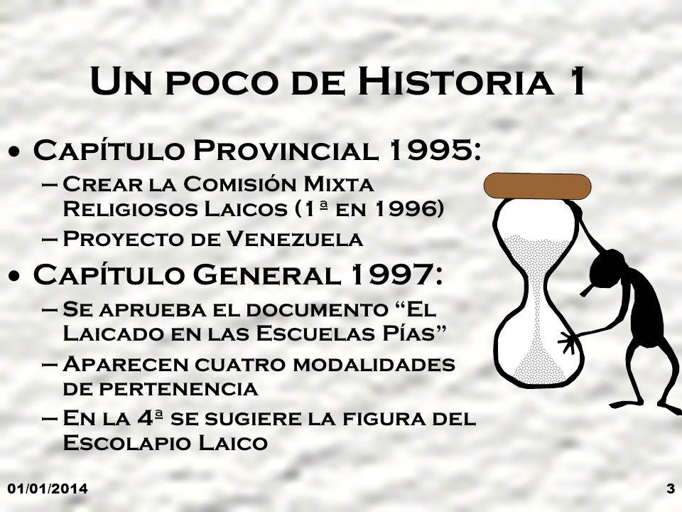 Un poco de Historia 1 Capítulo Provincial 1995: Capítulo General 1997: